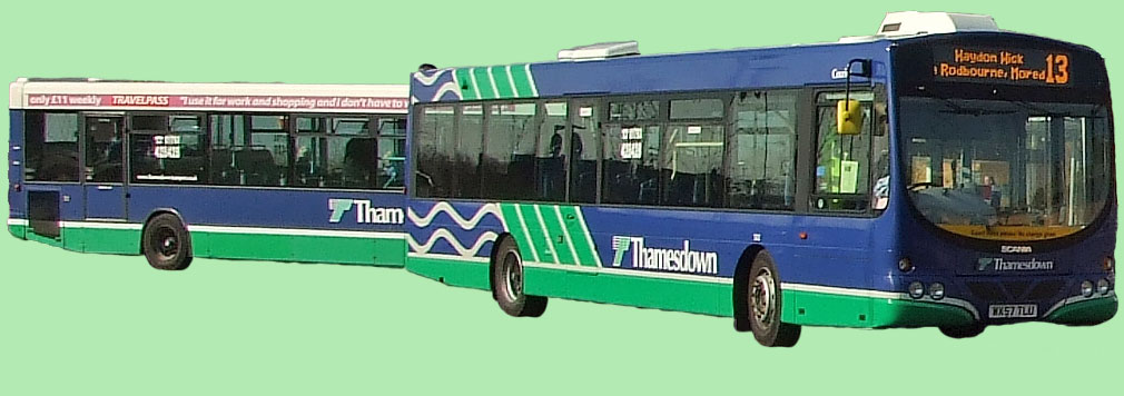 Two Thamesdown buses