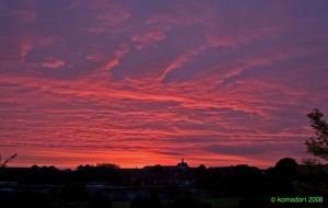 Sunset over Churchward