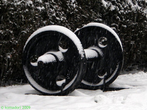 Wheels in the snow