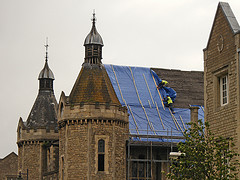 The Mechanics Institute gets a blue bonnet © komadori
