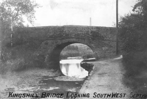 Kingshill Bridge looking south-west in 1910
